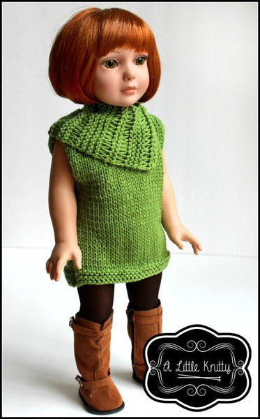 A Little Knitty Matilda Tunic Amp Cowl Doll Clothes Pattern