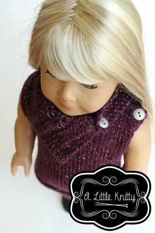A Little Knitty Matilda Tunic & Cowl Doll Clothes Pattern ...