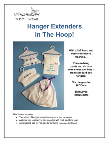 Hanger Extenders Machine Embroidery Design