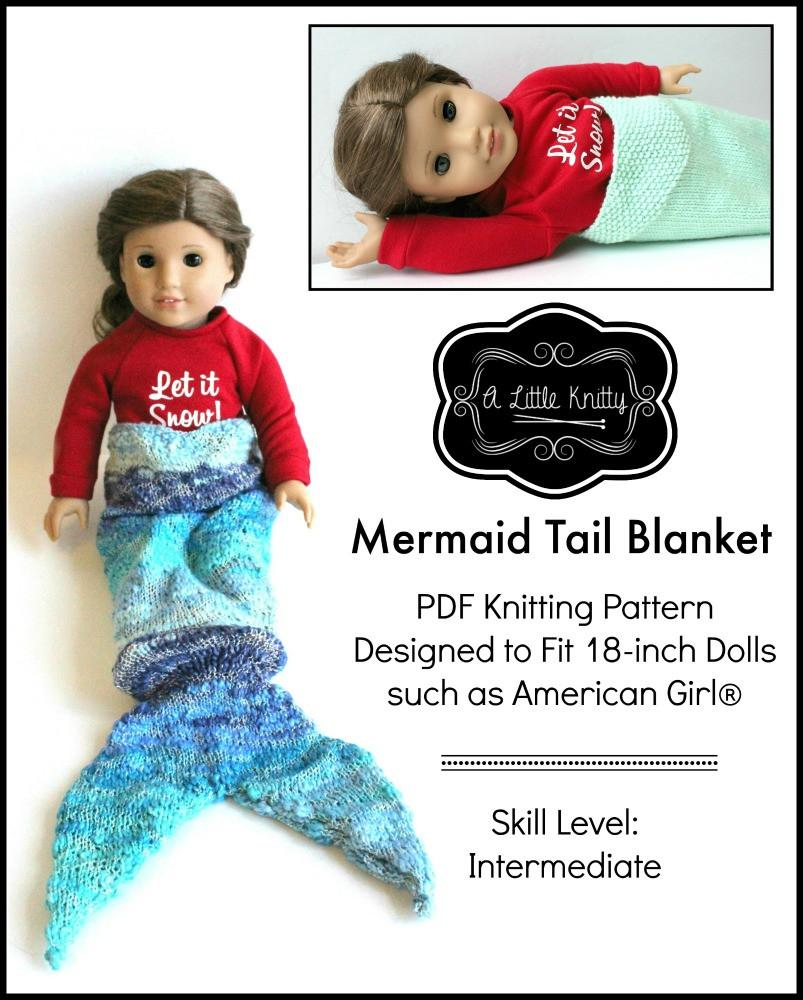 A Little Knitty Mermaid Tail Blanket Doll Clothes Knitting Pattern ...