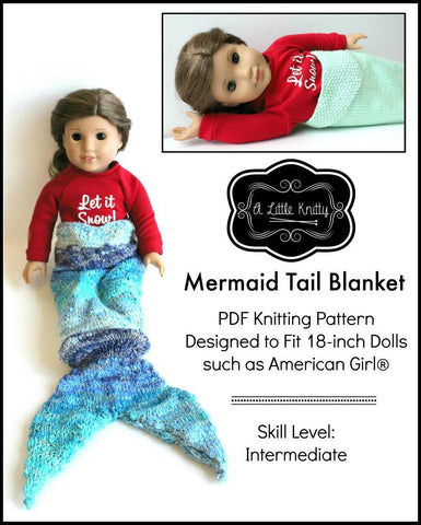 Mermaid Tail Blanket Knitting Pattern
