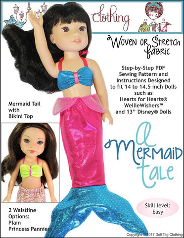 "Doll Tag Clothing WellieWishers A Mermaid Tale for 13-14.5"" Dolls Pixie Faire"