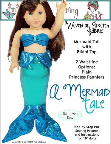 "Doll Tag Clothing 18 Inch Modern A Mermaid Tale 18"" Doll Clothes Pixie Faire"
