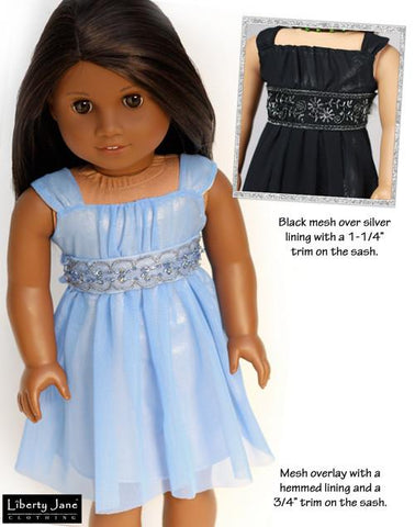 Holiday dress pattern for 18 inch dolls Liberty Jane