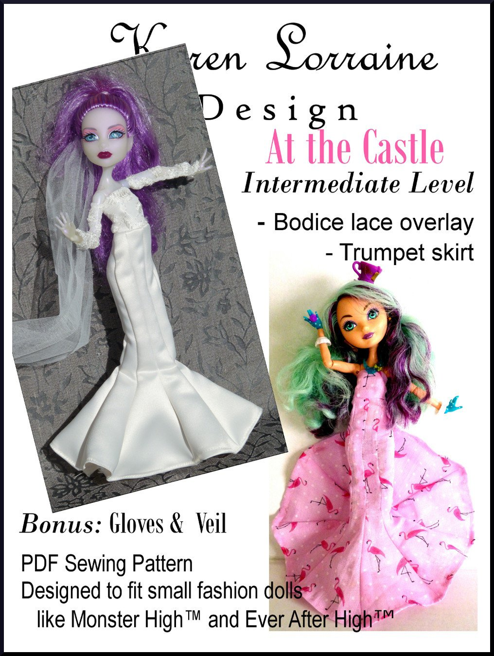 At The Castle Doll Clothes Pattern For 9 11 Inch Fashion Dolls
