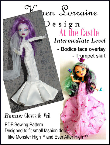 Karen Lorraine Design Monster High At the Castle Pattern for Monster High Dolls Pixie Faire