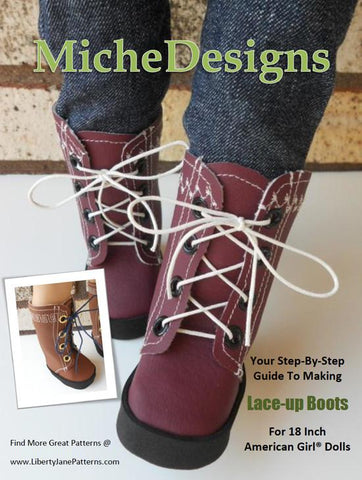 "Lace Up Boots 18"" Doll Shoes"