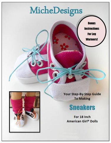 "Sneakers 18"" Doll Shoe Pattern"