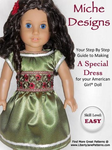 "Special Dress 18"" Doll Clothes Pattern"