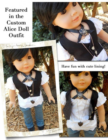 "Lined Vest 18"" Doll Clothes"