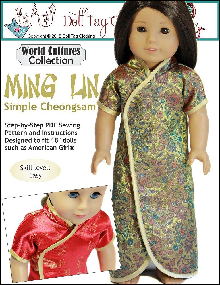 Doll Tag Clothing Ming Lin Doll Clothes Pattern 18 Inch American