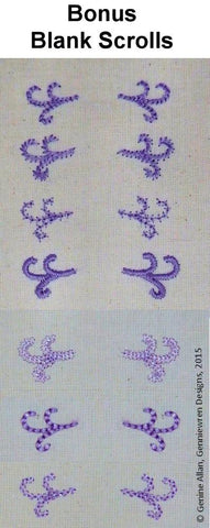 Celebrate Too Mini Scroll Design Set 2 Machine Embroidery Designs