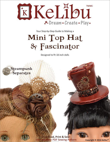 "Mini Top Hat & Fascinator 18"" Doll Accessories"