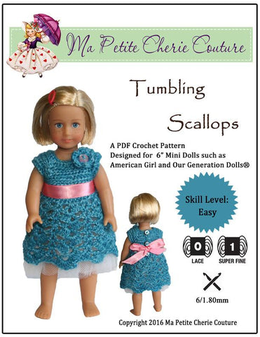 Tumbling Scallops for Mini Dolls
