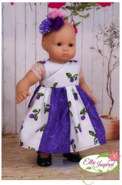 "Mini Sugar Horses Dress 15"" and 18"" Doll Clothes Pattern"