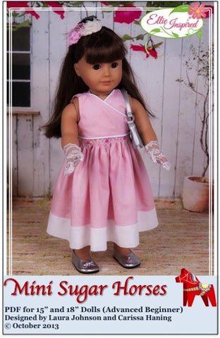 "Mini Sugar Horses Dress 15"" and 18"" Doll Clothes"