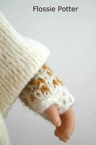 Sampler Stocking Cap and Mitts Knitting Pattern For A Girl For All Time Dolls