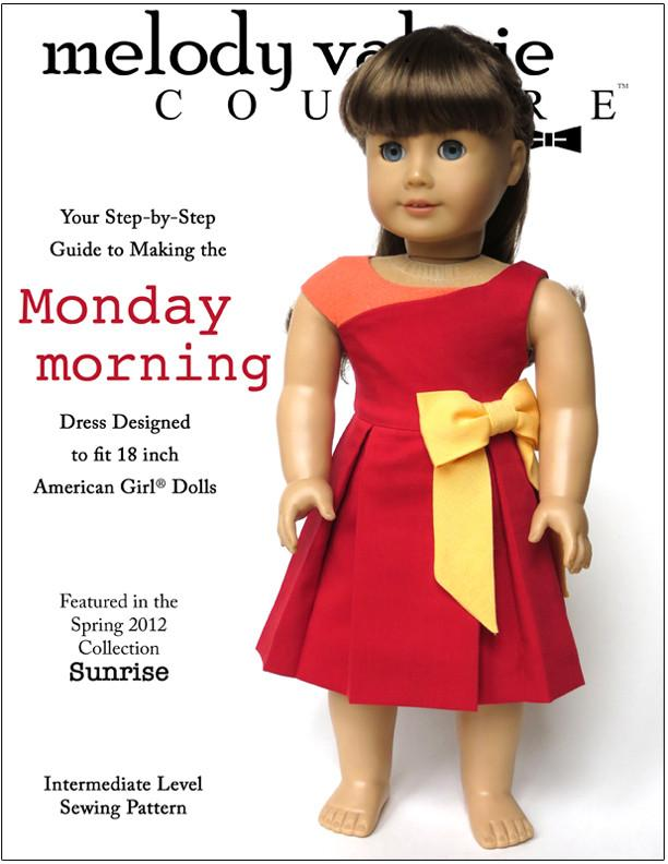 Monday Morning Dress 18 inch Doll Clothes Pattern PDF Download ...