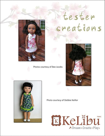 Mori Girl Collared Dress 14-14.5 Inch Doll Clothes Pattern