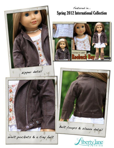 "Motorcycle Jacket 18"" Doll Clothes Pattern"