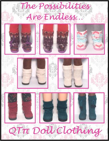 "Sweater Mukluks 14.5"" Doll Clothes Pattern"