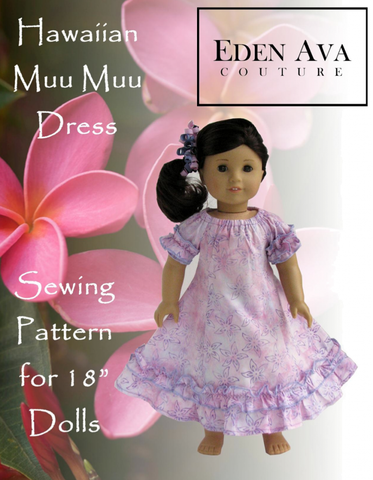 "Hawaiian Muu Muu Dress 18"" Doll Clothes"