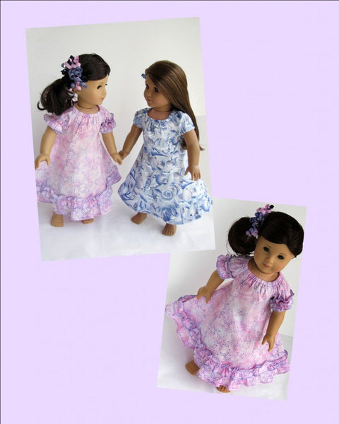 hawaiian muu muu dress 18 inch doll clothes pdf pattern