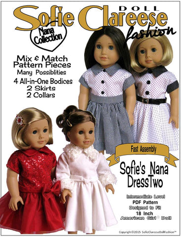 "Sofie's Nana Dress Two 18"" Doll Clothes"