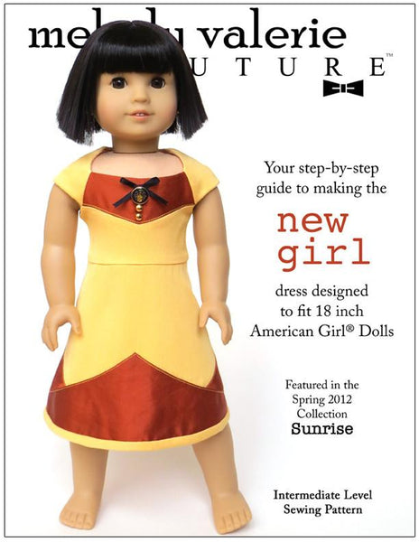 New Girl Dress 18 Inch Doll Clothes Pattern Pdf Download
