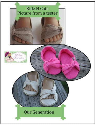 Knotted Sandals for Kidz N Cats Dolls