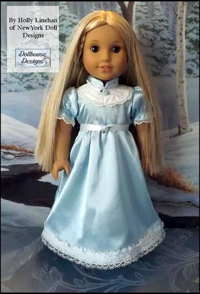 Dollhouse Designs Winter Princess Nightgown Doll Clothes