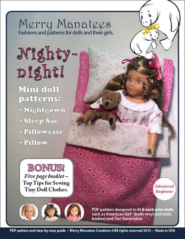 Nighty-night! Pattern for Mini Dolls