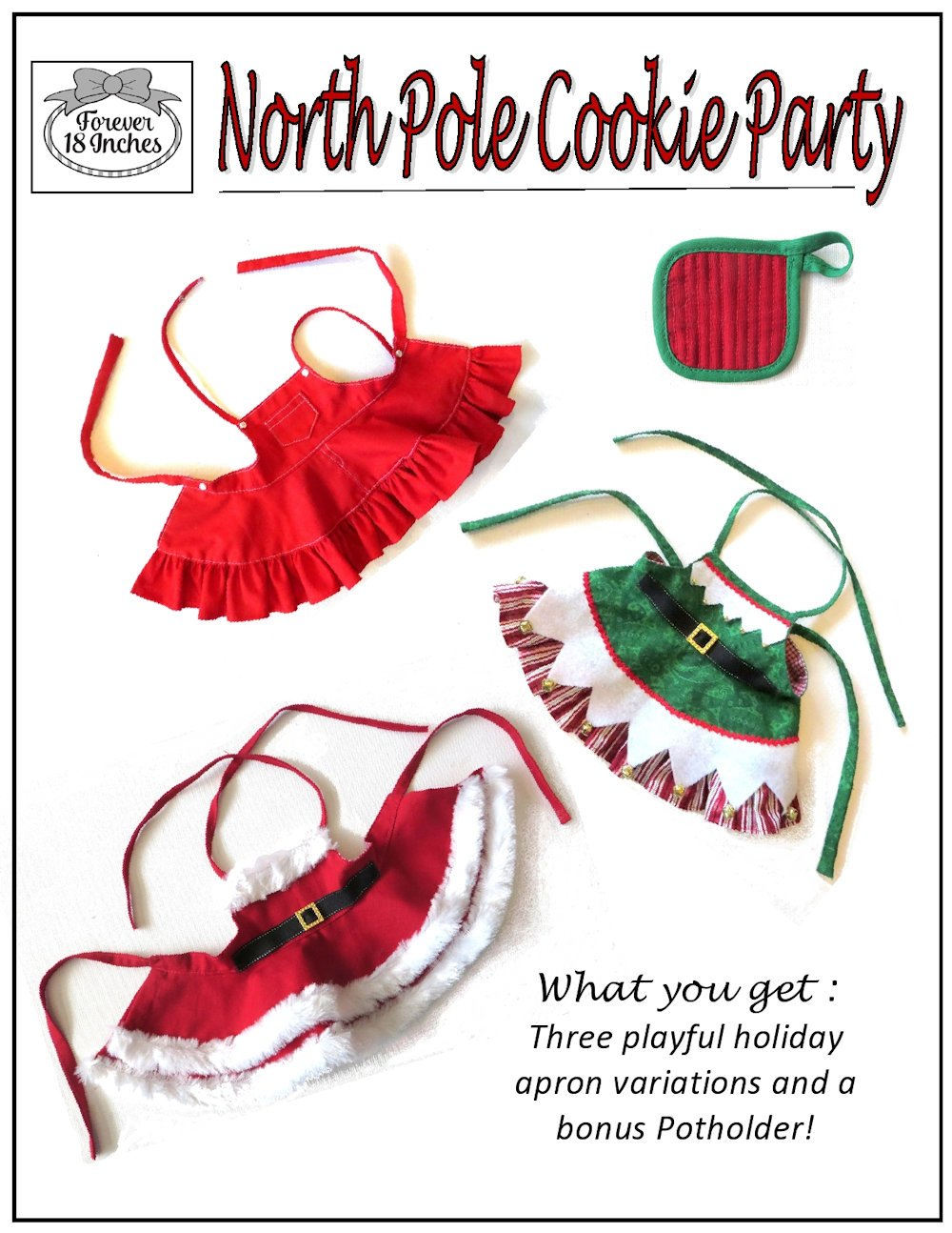 Forever 18 Inches North Pole Cookie Party Doll Clothes Pattern 18