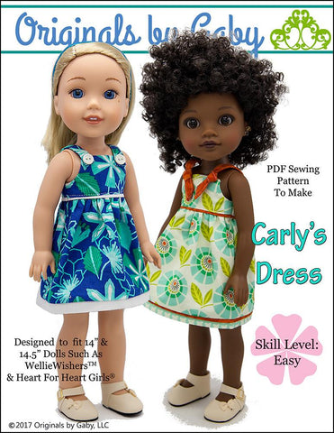 "Carly's Dress 14.5"" Doll Clothes Pattern"
