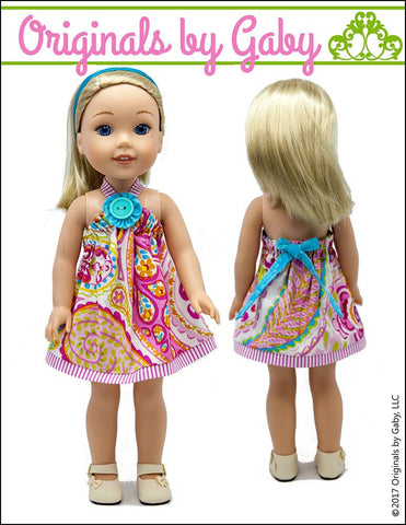 Picnic Sundress & Show My Bow Jacket for WellieWishers Dolls