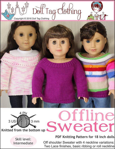 Doll Tag Clothing Knitting Offline Sweater Knitting Pattern Pixie Faire