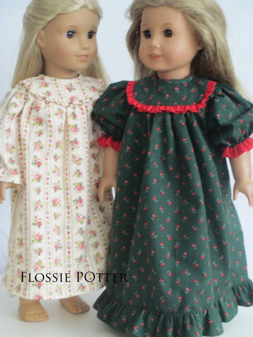 "Old Fashioned Nightgown 18"" Doll Clothes Pattern"