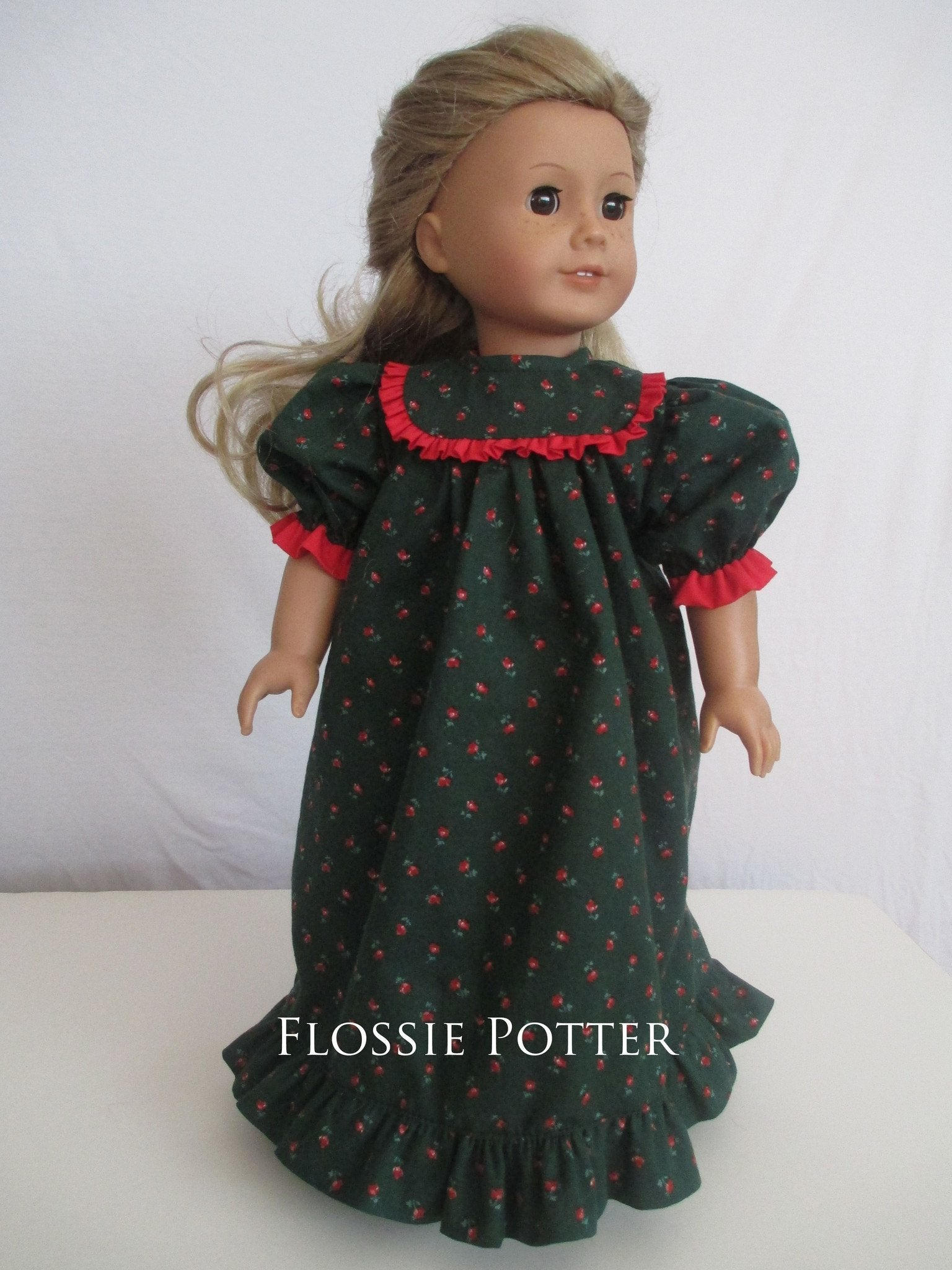 Flossie Potter Old Fashioned Nightgown Doll Clothes Pattern 18 inch ...