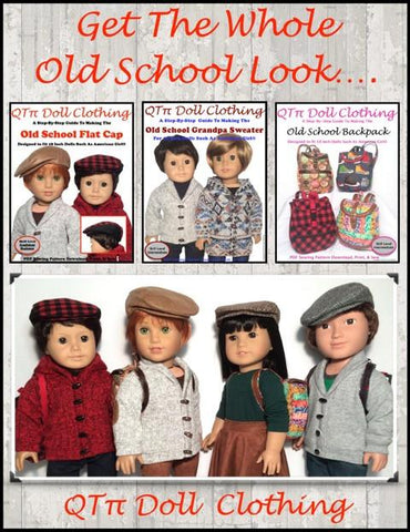 "Old School Flat Cap 18"" Doll Accessories"