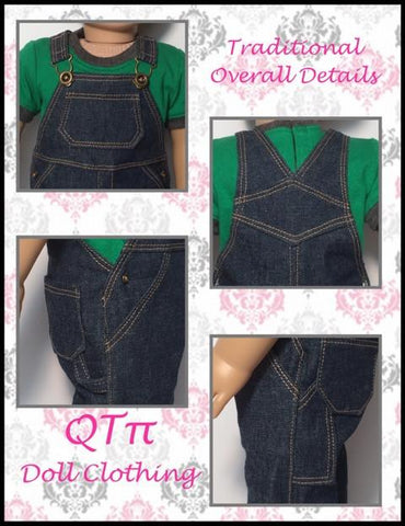 "Oh My Gosh Overalls 18"" Doll Clothes"