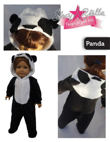 "Animal Onesie 18"" Doll Clothes Pattern"