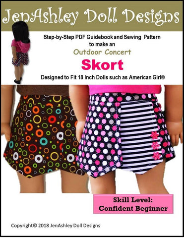 60 Inch Doll Clothes Patterns Shorts For American Girl Doll Pixie Classy Skort Pattern