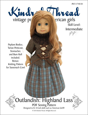 "Outlandish: Highland Lass 18"" Doll Clothes"