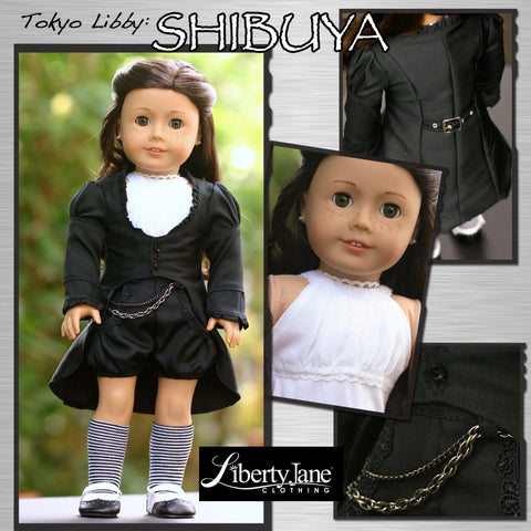 "Shibuya Jacket 18"" Doll Clothes Pattern"
