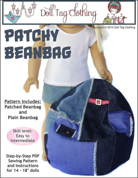 Patchy Bean Bag For 18 Inch Dolls Pattern Pdf Download