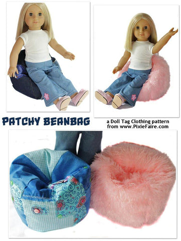 "Patchy Bean Bag for 18"" Dolls"