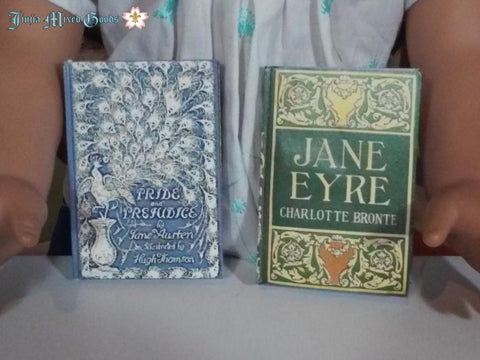 "Jane Eyre and Pride and Prejudice Printable Books 14-18"" Doll Accessories"