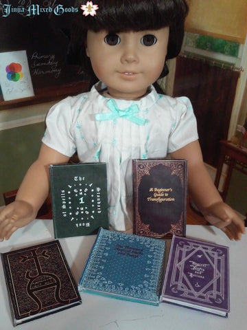 "Wizard Textbooks Printable Books 14-18"" Doll Accessories"