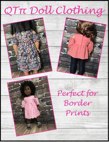 "Peek-A-Boo Dress 18"" Doll Clothes Pattern"