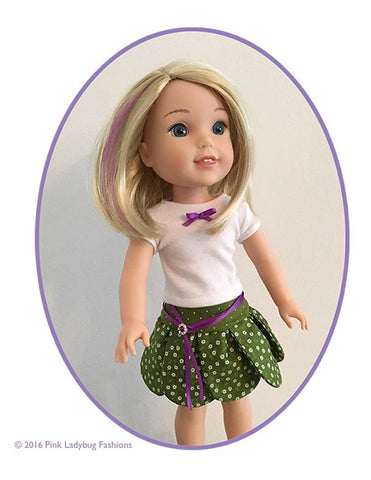 "Petal Skirt 14.5"" Doll Clothes Pattern"